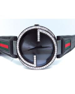 Mens Gucci Interlocking GG Diamond Watch YA133206 (2.0 ct)
