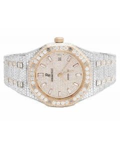 Mens 41 MM Audemars Piguet Royal Oak 18k Rose Gold/Stainless Steel with VS diamond (24.5 Ct)