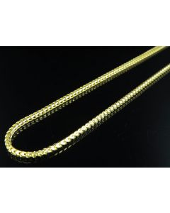 .925 Sterling Silver Yellow Finish Franco Box Chain 4mm
