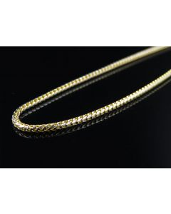 Solid 10K Yellow Gold 1.5 MM Diamond Cut Franco Chain Necklace 18-30 Inches