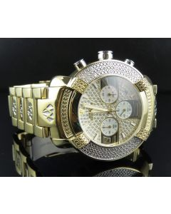 Mens Aqua Master Metal Band 2 Tone Diamond Watch W#96 0.45 Ct