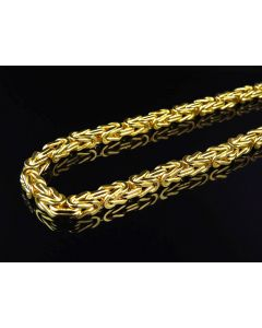 Bonded 1/20th 10K Yellow Gold 6 MM Byzantine Chain 30-38 Ins