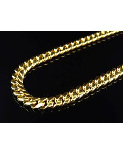 Bonded 1/20th 10K Yellow Gold 5.5 MM Miami Cuban Chain