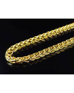 Bonded 1/20th 10K Yellow Gold 4.5 MM Wheat Chain 26-36 Inches