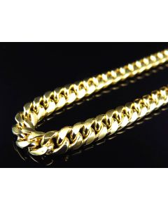 Hollow Miami Cuban Chain in 10K Yellow Gold 5.5MM