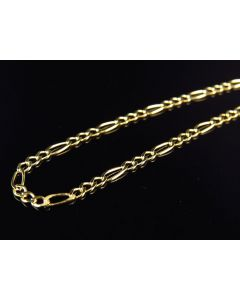 """10K Yellow Gold 2MM Wide Figaro Chain Necklace 16""""-26"""""""