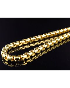 "Solid 14K Yellow Gold 3.5 MM Rolo Chain 20""-26"""