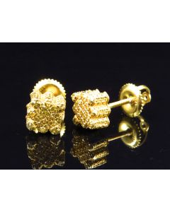 Chiseled Style Canary Earrings In Yellow Gold Finish (0.45 ct)