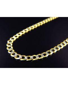 "10K Yellow Gold Solid Diamond Cut Cuban Link Chain 18-30"" (3.5MM)"