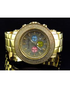 Chrono Don & Co Full Case Diamond Watch R8079 (5.5 Ct)