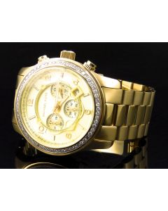 Micheal Kors Gold Tone w/ Genuine Diamonds - MK8077