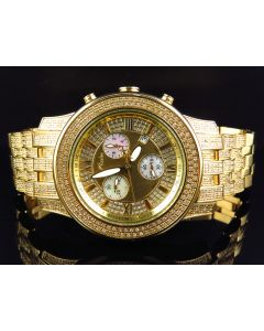 Joe Rodeo 2000 Gold Watch with Diamond Band J2026 3.5 Ct