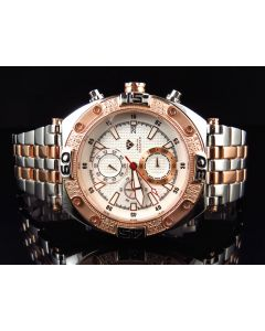 Aqua Master Two Tone Rose Gold W#351 Diamond Watch (.25 Ct)