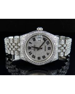 Rolex Datejust 178270 Midsize 31mm W/ Custom Set Diamond Watch (11.5 Ct)