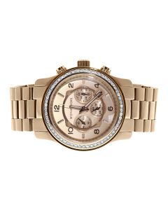 Micheal Kors Rose Gold Tone w/ Genuine Diamonds - MK8077