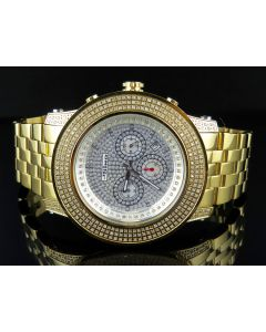 Mens Joe Rodeo Jojo Jojino 300 Gold Plated 52 MM Diamond Watch 3.0 CT MJ-8034