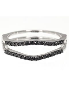 Solitaire Enhancer Ring Jacket with Black Diamonds (0.33 ct)