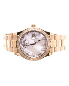 KC Rose Finish Watch with MOP Dial (1.0 ct)