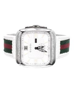 Mens Gucci Coupé in White YA131303 (1.0 ct)
