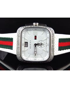 Mens Gucci Coupé in White YA131303 (3.5 ct)