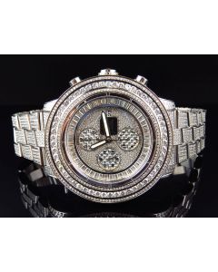 Custom Breitling A13370 Super Avenger Fully Iced St.Steel with Diamonds (23 Ct)