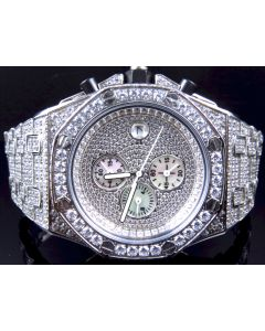 Iced Out Stainless Steel Simulated Diamond Watch