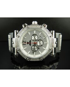 Mens Aqua Master Silver Illusion Dial Diamond Watch W#147-89-14 0.24 Ct