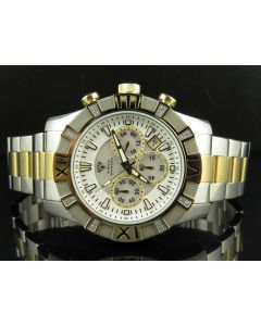 Mens Aqua Master 2 Tone White MOP Dial Diamond Watch W#333-101-10 0.24 Ct
