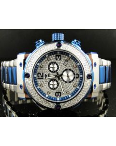Aqua Master W#146 Blue Stainless Steel Genuine Diamond Watch