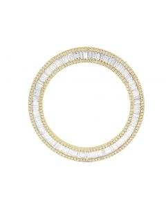 Yellow Gold Baguette Round Diamond Bezel for Rolex 40MM Watch 4.0 Ct