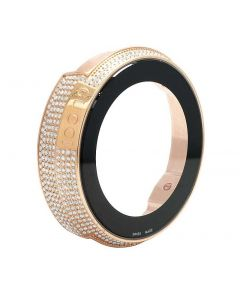 Gucci YA 114 Rose Gold Plated Diamond Case with White Diamonds (4 Ct)