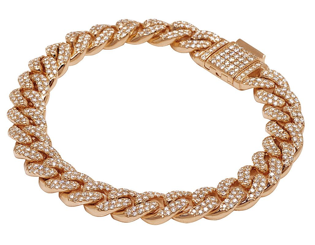 Details about  /2/&3 TONE 19 MM BUST DOWN MIAMI CUBAN CHAIN 46 CT VS1 CLARITY CRYSTALS HANDMADE