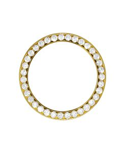 Solid Gold Prong Set Diamond Bezel for Mens 36 MM Rolex President or Datejust (4 Ct)