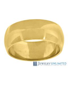 10K Yellow Gold Mens Ladies Wedding Band Ring 7MM