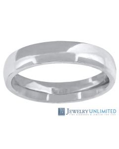 10K White Gold Mens Ladies Comfort Fit Wedding Band Ring 4mm