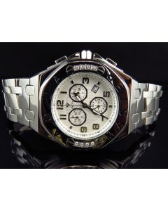 Mens Aqua Master AP 45 MM 316 Stainless Steel Diamond Watch W#340 0.24 Ct