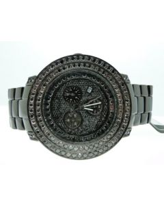 Joe Rodeo Junior Black PVD Black Diamond Watch JJU300 8.0 Ct