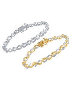 Ladies Infinity Style Bracelet with Diamond Accents