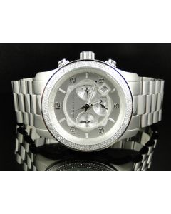 Micheal Kors Silver Tone w/ Genuine Diamonds - MK8086