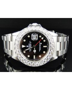 Pre-Owned Rolex Explorer II Stainless Steel Diamond Watch (6 ct)