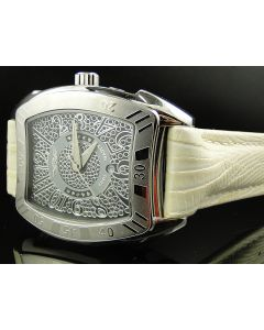 King Master Rounded King Albino Reptile Diamond Watch