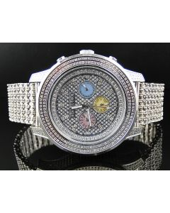 Chrono Don & Co Full Case Diamond Watch R8079 (8.5 Ct)