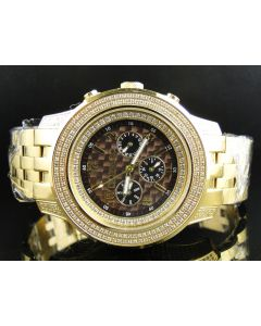 Chrono Don & Co Full Diamond Watch R8079 (3.5 Ct)