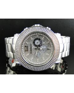 Don & Co Junior 51MM Diamond Watch R8049W (2.5 Ct)