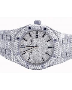 Ladies Steel Audemars Piguet Royal Oak Diamond Watch 21.35 Ct