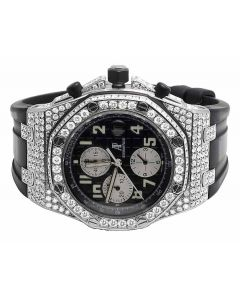 Mens 42 MM Audemars Piguet Royal Oak Offshore Stainless Steel diamond (10.5 Ct)