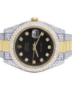 Rolex 41MM Datejust II 18K/ Steel 116333 Two Tone Diamond Watch 13.0 Ct