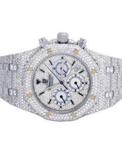 Mens Audemars Piguet Royal Oak Stainless Steel 39MM VS Diamond Watch 27.75 Ct