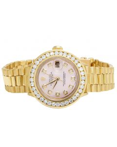 Ladies 18K Yellow Gold 26MM Presidential 69178 Diamond Watch 3.0 Ct