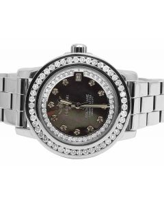 Custom Ladies Breitling Aeromarine Colt 33 A77387 Diamond Watch 2.5 Ct
